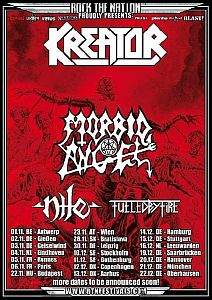 Kreator - Tour mit Morbid Angel, Nile und Fueled By Fire.