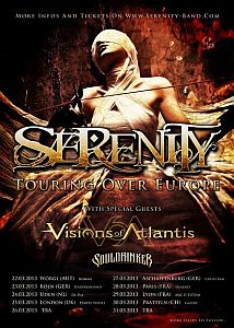 Serenity - Europa Tour mit Visions Of Atlantis und Souldrinker.