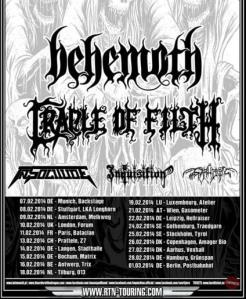 Behemoth - Touren mit CRADLE OF FILTH