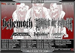 Behemoth - Mit Cradle Of Filth auf satter Europatour.