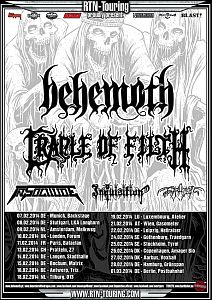 Behemoth - Tour mit Cradle Of Filth und In Solitude.