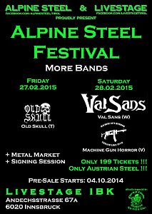 Darkscene - Weiter Bands fürs Alpine Steel Festival!