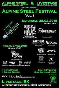 Darkscene - Stormwave am Alpine Steel Festival. Line-up complete.