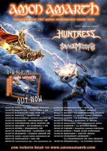 Amon Amarth - 2015er Europa-dates mit Huntress.