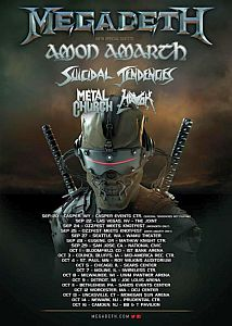 Megadeth - Megatour mit Amon Amarth, ST und Metal Church.