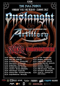 Artillery - Co-Headliner Tour mit ONSLAUGHT