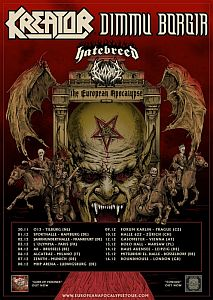 Dimmu Borgir - Fette co-Headliner Tour mit Kreator und Hatebreed